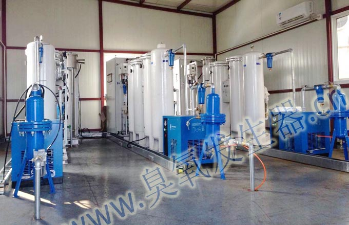 20 sets 500g/h ozone system is smoothly running in waste gas treatment.